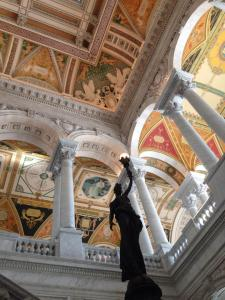 The interior of the Library of Congress