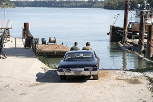 sam and dean on car